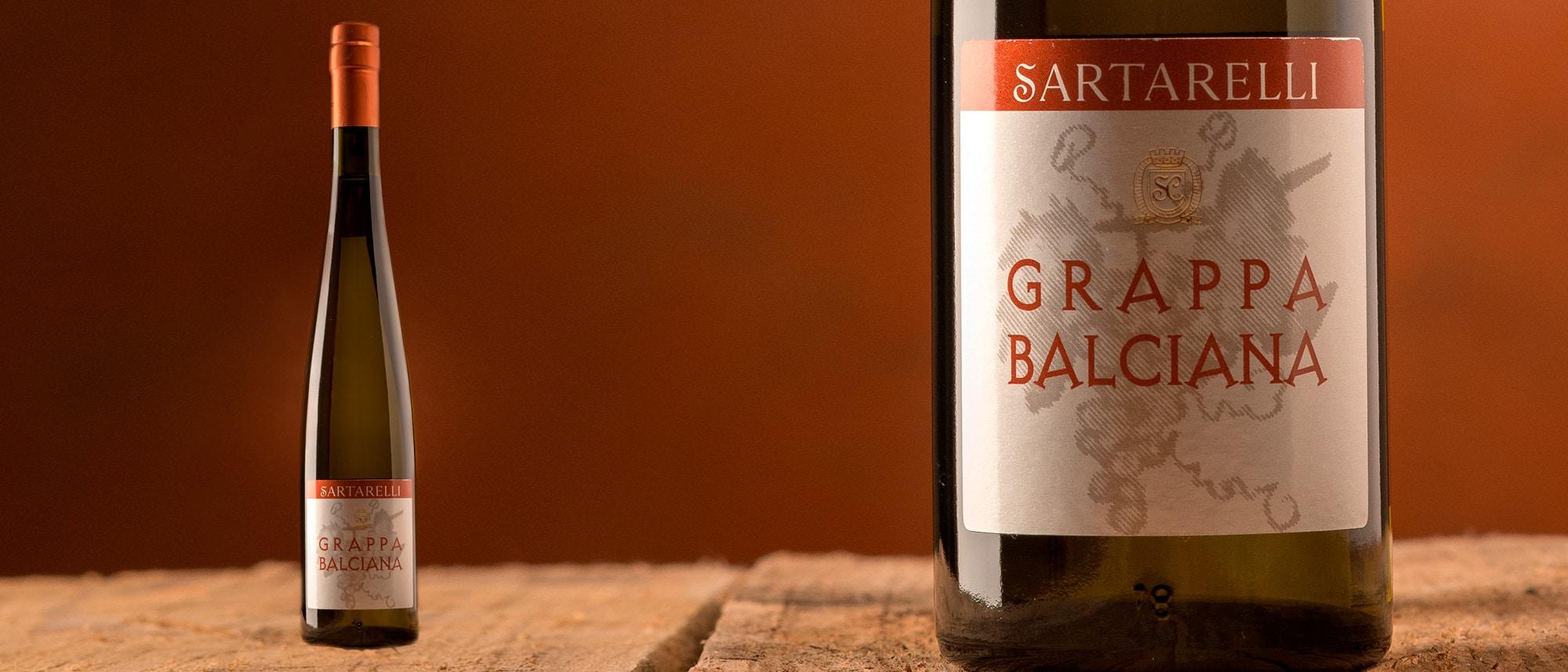 Bottiglia di Grappa Balciana Sartarelli