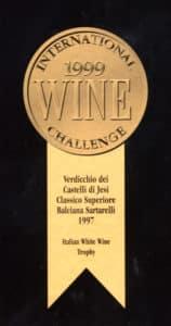 Balciana Sartarelli 1997 - Italian White Wine Trophy - International Wine Challenge 1999