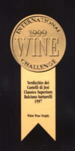 Balciana Sartarelli 1997 - White Wine Trophy - International Wine Challenge 1999