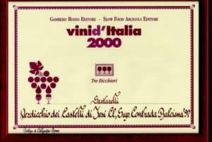 Balciana Sartarelli 1997 - Tre Bicchieri 2000