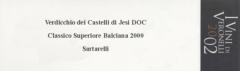 2002 Super Tre Stelle - Balciana 2000