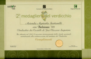 Balciana 2000 - 2° Medagliere del Verdicchio 2003