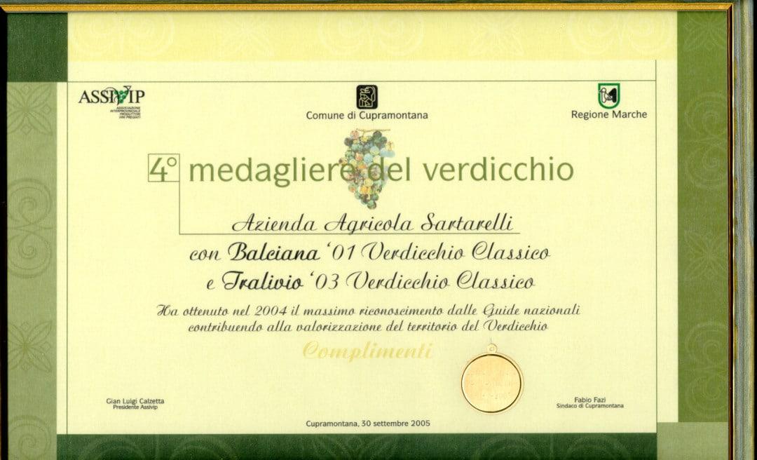 Tralivio 2003 - 4° Medagliere del Verdicchio 2005