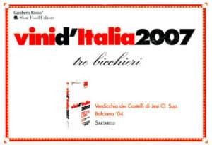 Balciana 2004 - Tre Bicchieri 2007