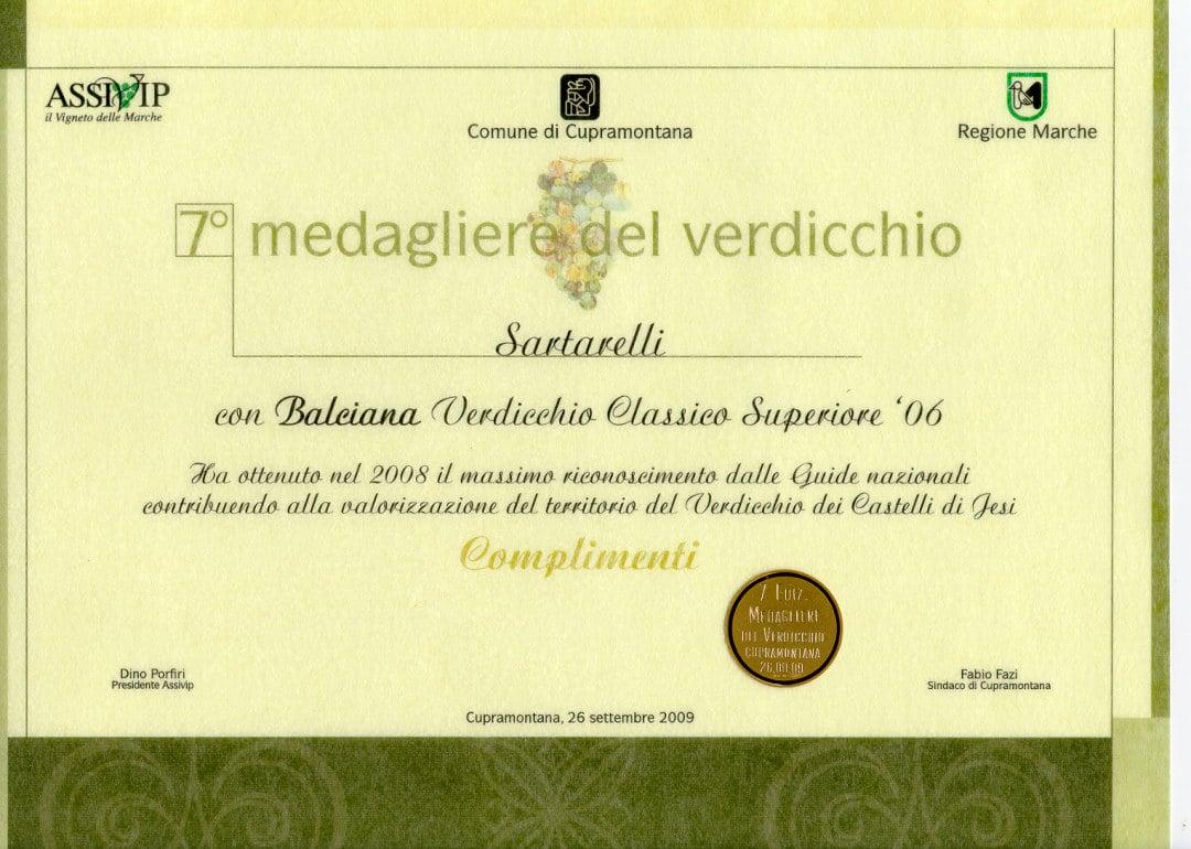 Balciana 2006 - 7 Medagliere del Verdicchio 2009