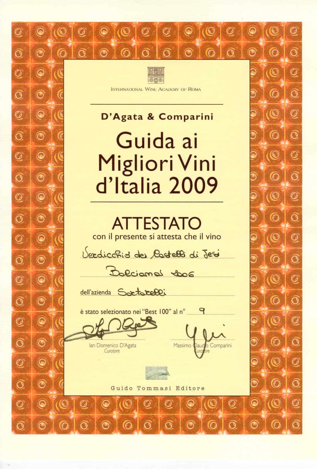 Balciana 2006 - Best 100 Vini d'Italia 2009