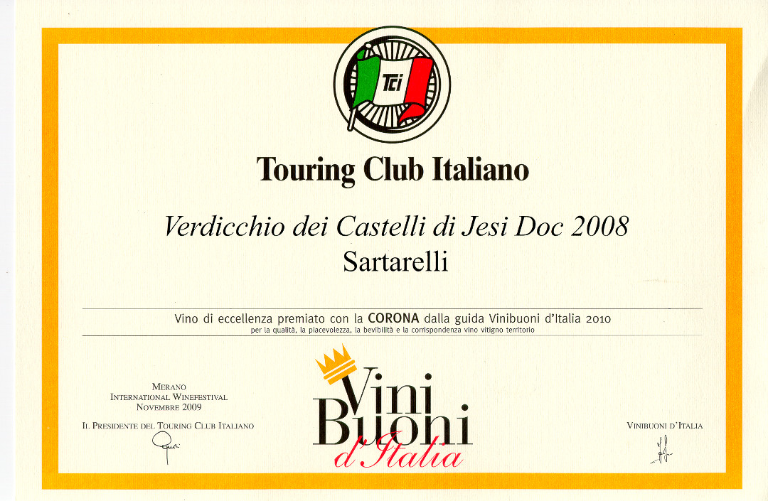 Sartarelli Classico 2008 - Corona 2010