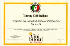 Sartarelli Passito 2007 - Golden Star 2010