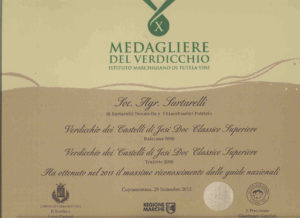 Balciana 2009 - 10° Medagliere del Verdicchio 2012