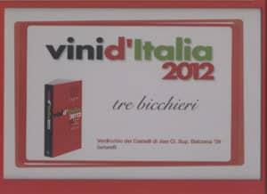 Balciana 2009 - Tre Bicchieri 2012
