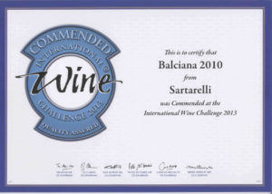 Balciana 2010 - Commended Medal International Wine Challenge 2013