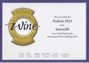 Tralivio 2011 - Gold Medal - International Wine Challenge 2013