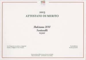 2013 Guida ai Migliori Vini d'Italia - Balciana 2010