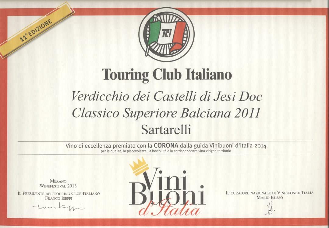 Balciana Sartarelli 2011 - Corona 2014