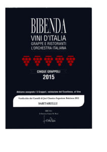 Balciana 2012 - 5 Grappoli - Bibenda 2015