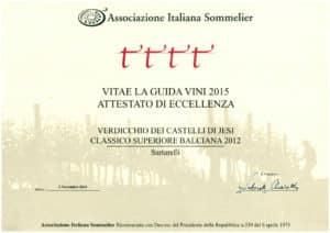 Balciana 2012 - 4 Viti - A.I.S. 2015