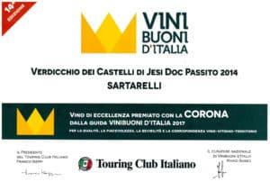 Sartarelli Passito 2014 - Corona 2017