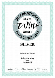 Balciana 2014 - Silver Medal - International Wine Challenge 2017