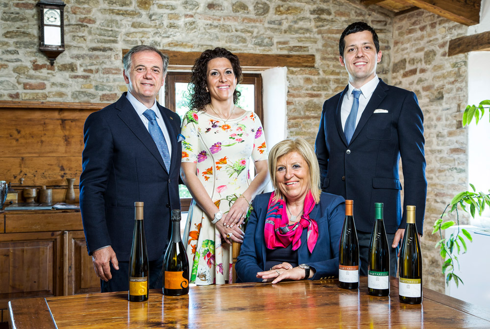 Famiglia Sartarelli: Donatella, Patrizio, Caterina e Tommaso