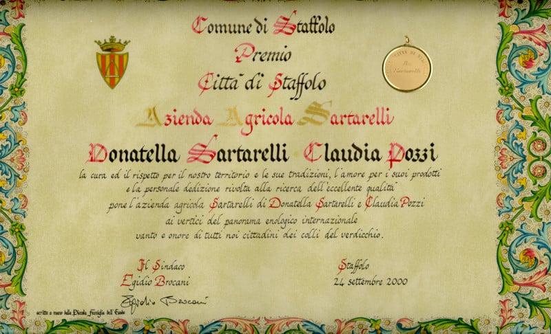 Sartarelli - Premio Città di Staffolo 2000