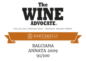 2013 The Wine Advocate - Balciana Sartarelli 2009