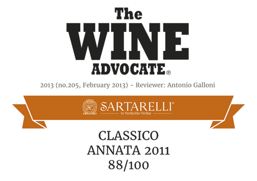 2013 The Wine Advocate - Classico Sartarelli 2011