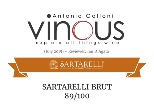 2015 Galloni's Vinous - Sartarelli Brut