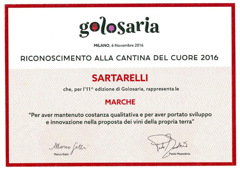 Cantina del Cuore (Il Golosario di Paolo Massobrio) - 2016