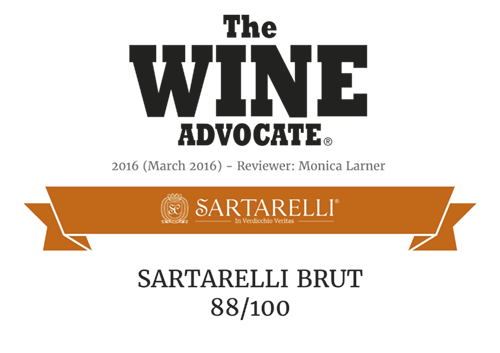 2016 The Wine Advocate - Sartarelli Brut