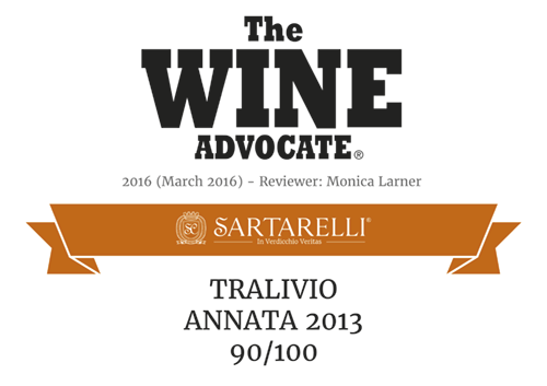 2016 The Wine Advocate - Tralivio Sartarelli 2013