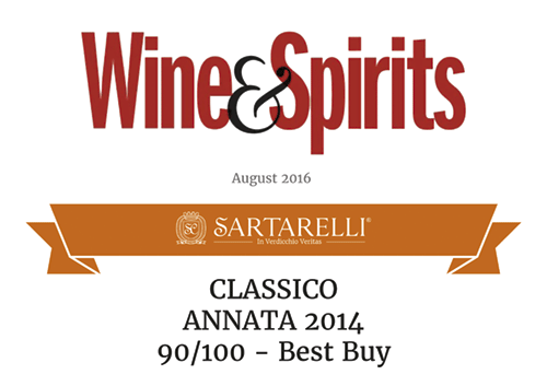 2016 Wine & Spirits - Classico Sartarelli 2014