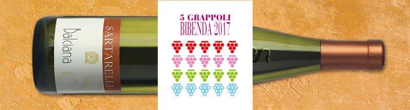Sartarelli Balciana 5 Grappoli Bibenda 2017