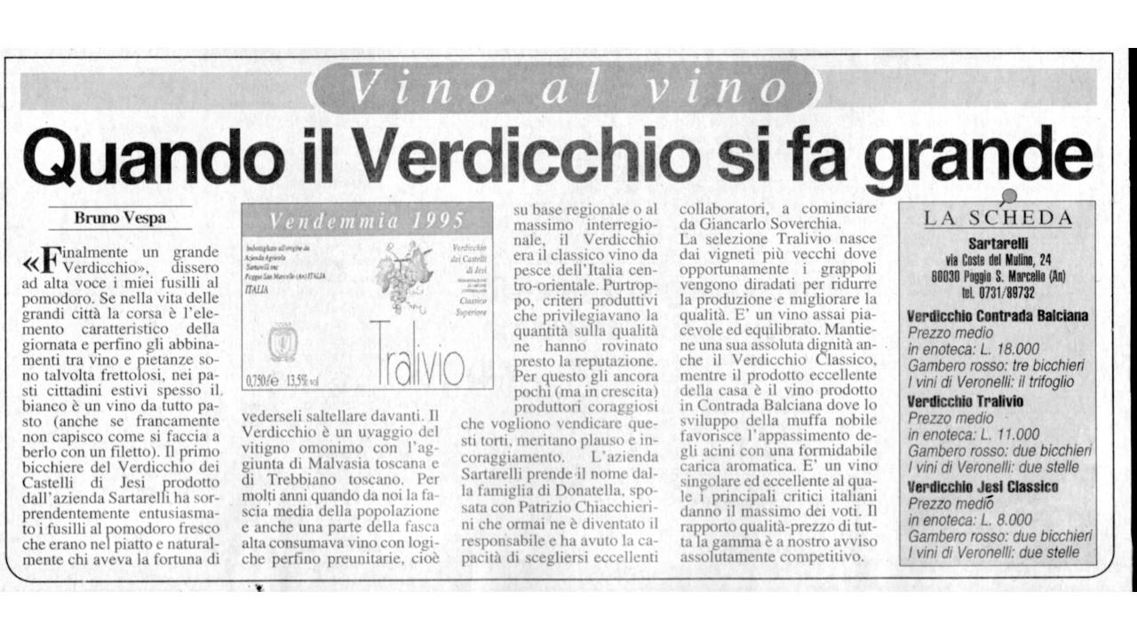 Quando il Verdicchio si fa grande - Bruno Vespa