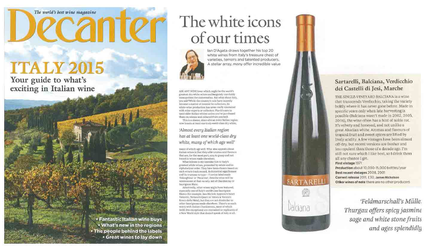 Decanter - The white icons of our times