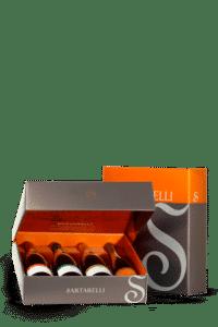 Raffinata confezione regalo Sartarelli da 4 bottiglie