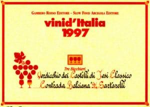 Balciana Sartarelli 1994 - Tre Bicchieri 1997