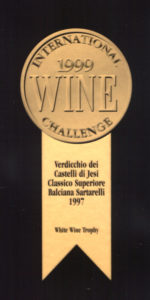 Balciana Sartarelli 1997 - White Wine Trophy - International Wine Challenge 1999