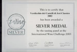 Sartarelli Classico - Silver Medal - International Wine Challenge 2003