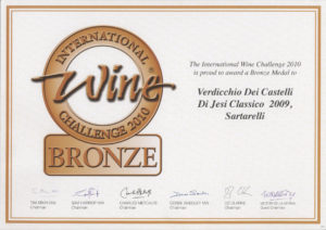 Sartarelli Classico 2009 - Bronze Medal - International Wine Challenge 2010