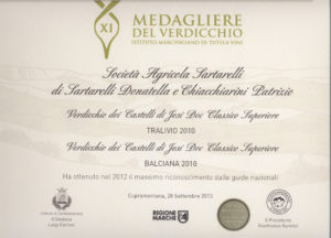 Balciana 2010 - 11 Medagliere del Verdicchio 2013