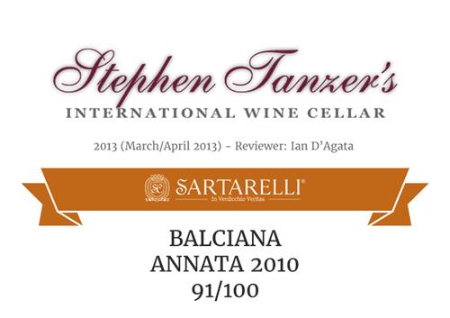 Balciana 2010 - 91 points - Tanzer's International Wine Cellar
