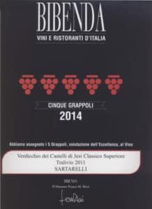 Tralivio Sartarelli 2011 - 5 Grappoli 2014