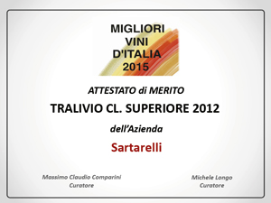 Tralivio 2012 - Migliori Vini d'Italia 2015 Comparini