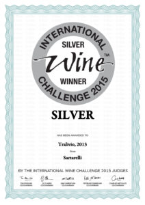 Tralivio 2013 - Silver Medal - International Wine Challenge 2015