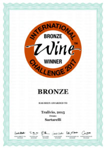 Tralivio 2015 - Bronze Medal - International Wine Challenge 2017