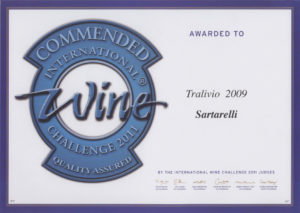 Tralivio 2009 - Commended Medal - International Wine Challenge 2011