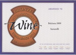 Balciana 2009 - Bronze Medal - International Wine Challenge 2012