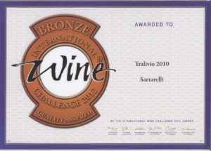 Tralivio 2010 - Bronze Medal - International Wine Challenge 2012