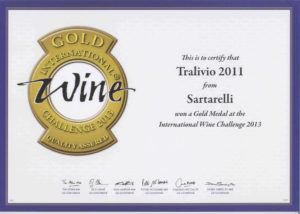 Tralivio 2011 - Gold Medal - International Wine Challenge 2013