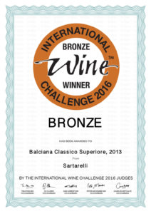 Balciana 2013 - Bronze Medal - International Wine Challenge 2016
